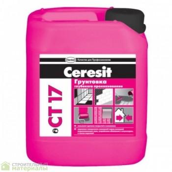 Ceresit CT 17  Церезит СТ 17 грунтовка глубокого проникновения, канистра 10 л