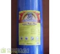 Фасадная сетка стеклотканевая,полимерная ячейка 5*5мм.160г/м2.1х50м.Цвет синий.