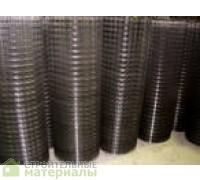 Сетка сварная в рулоне из черной неоцинкованной проволоки ячейка 50х50мм. Рулон 1.5х50м толщина проволки 1,4мм