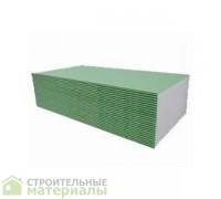 Гипсокартон ГКЛВ 12,5мм Кнауф KNAUF  влагостойкий ГКЛВ - 2500х1200х12.5мм 3м2