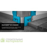 Экструдированный пенополистирол 20мм Раватерм Ravatherm XPS STANDART-20 1200х600х20мм 20 плит 14,4 м2 0.288 м3